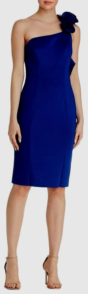279 BETSY & ADAM damen NAVY Blau ONE SHOULDER SLEEVELESS EVENING DRESS Größe 10