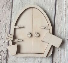 * BRAND NEW*♥♥ 3D laser cut birch plywood gothic fairy faerie doors♥♥ 3D D2