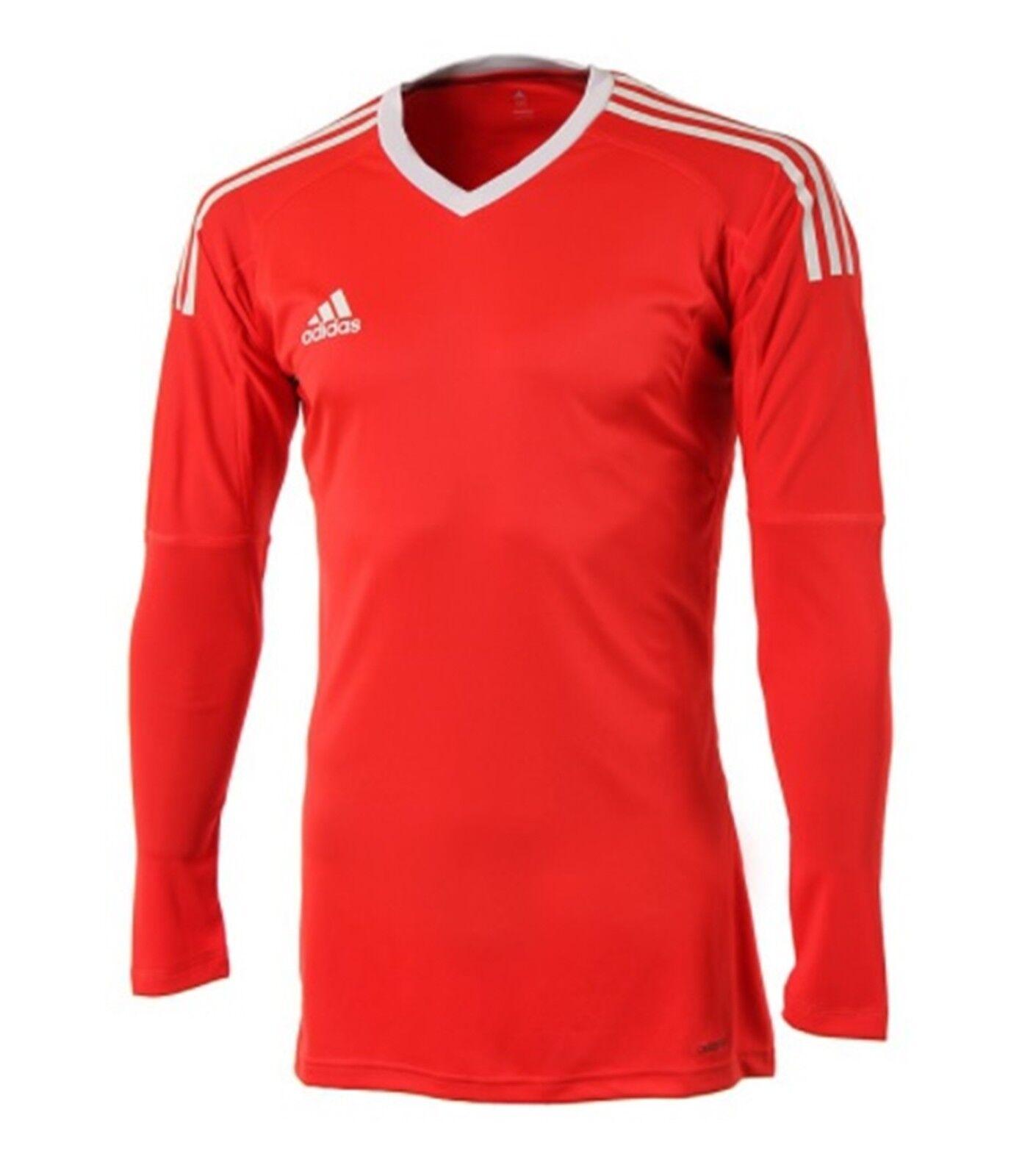 Adidas Hombres Revigo 17 Camisas De Portero Fútbol Rojo GK Camiseta De Fútbol Camiseta AZ5394