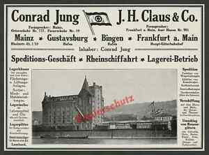 Möbel Jung Mainz orig reklame spedition conrad jung lagerhaus zollhafen kran