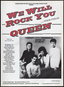 QUEEN - WE WILL ROCK YOU__Original 1982 Trade AD promo / poster__Live In Concert