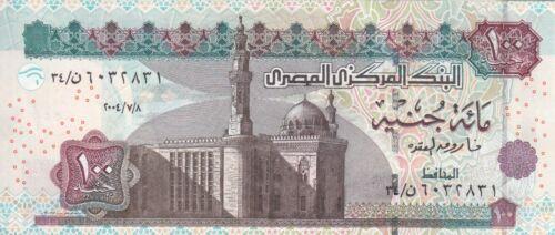 EGYPT 100 EGP 2004 P-67e SIG// OQDA #22 UNC *//*