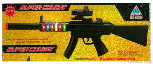 Battery operato supercombat FUCILE Pistola Giocattolo Colorato Lampeggiante /& realstic S