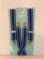 Boy's Kid's Suspenders 1 Count Royal Blue With White Stripe At Edge Age 3+