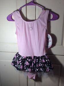 6e3f4b0f5a82 Jacques Moret~Black   Pink~Dance Leotard with Skirt~Girls Size L ...