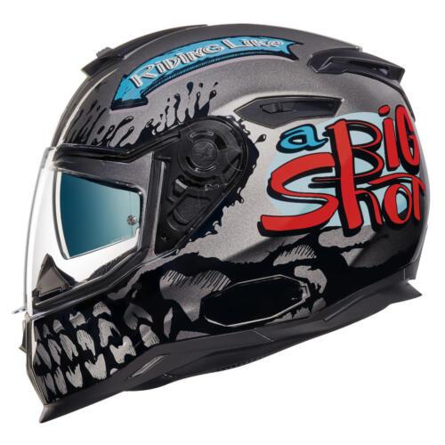 NEXX SX.100 SX100 Big Shot Dark Grey Full Face Motorcycle Helmet S M L XL