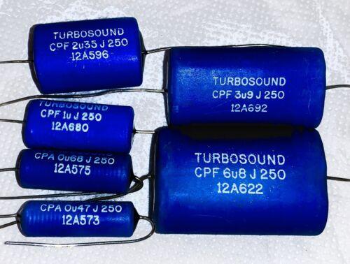 1 X Turbosound Audio Capacitor Polypropylene 0.33uf 6.8uF 5/% 250V Audiophile