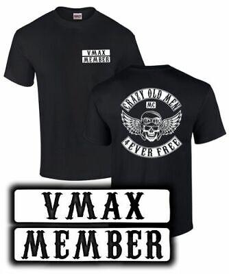 VMAX Tuning 1200 1700 T-Shirt CRAZY OLD MEN MC Motorrad Biker Treffen Zubehör