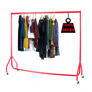 WHITE 4ft 5ft 6ft HEAVY DUTY COLORFUL CLOTHES RAILS GARMENT HOME SHOP  DISPLAY