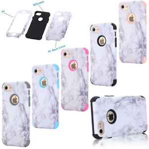 san francisco 15159 b832e Details about Granite Marble Pattern Protective Full Body PC Cover Case For  iPhone 6 6s Plus