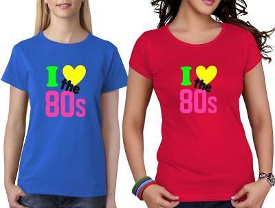 Preiswert Kaufen Retro I Love The 80s Hot Girls Short Sleeve T Shirt Womens Dance Parties Top Lot Belebende Durchblutung Und Schmerzen Stoppen
