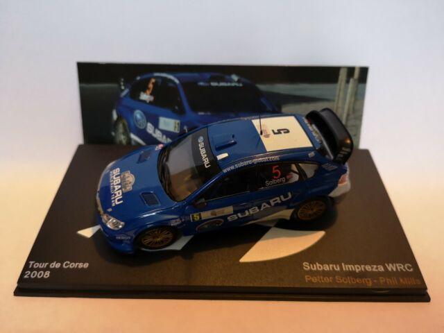 ALTAYA IXO SUBARU IMPREZA WRC 2008 RALLY TOUR CORSE SOLBERG CAR MODEL LT03 1:43