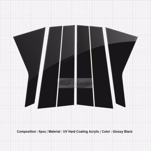 Glossy Black B C Pillar Post UV Coating Cover Trim 6Pcs For KIA 2015-18 Sorento