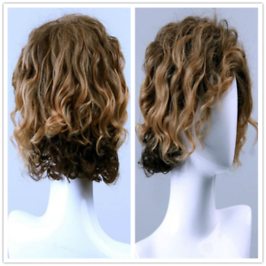 Details About Men S Fashion Natural Golden Brown Short Curly Synthetic Hair Cosplay Full Wigs