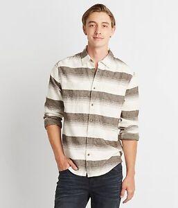 Aeropostale Mens Long Sleeve Plaid Button Down Woven Shirt   XS,S,M,L,XL,2XL,3XL