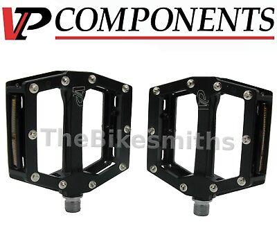 Black VP Components VP-AIM Flat Platform MTB Bike Pedals w// Pins Alloy Sealed