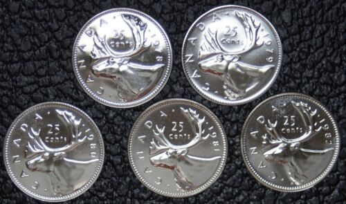 Pulled from PL Sets LOT OF 5-1978-1982 NCC CANADIAN GEM 25 CENT QUARTERS