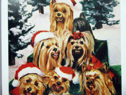 New Yorkshire Terrier Singers Holiday Cards Set 6 Note Cards /& Envelopes Yorkie
