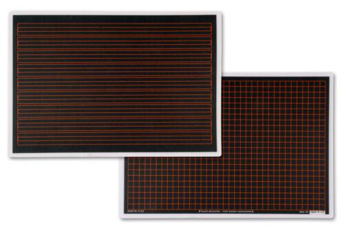 Schultafel aus Kunststoff Lineatur R 1//9 kariert und liniert 18x26cm