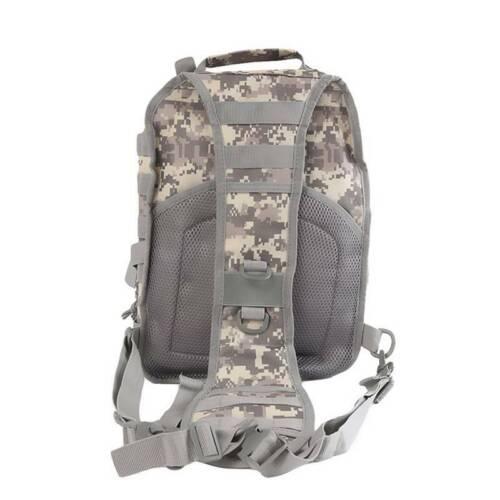 Men One Shoulder Back Pack Military Tactical Hiking Oxford Messenger Chest Bag Q
