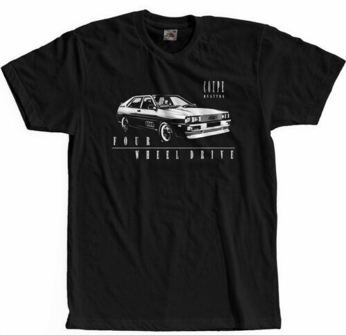 5XL Coupe T-Shirt Quatro 4x4 Legendary Fast Retro Cars Auto NAVY SCHWARZ  S