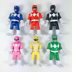 6 Tipos De Colores Imaginext Power Rangers Rosa Amarillo Rojo Azul