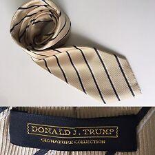 Donald J Trump Signature Collection 100% Silk Yellow Striped Tie