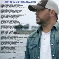 Country Music Promo DVD, Top 40 Country Hits - November 2016. NEW ONLY on Ebay!