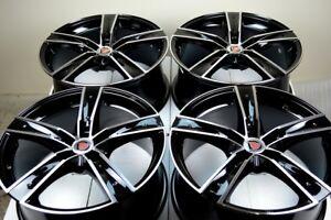 4-New-DDR-T8-18x8-5x114-3-40mm-Black-Machined-18-034-Wheels-Rims