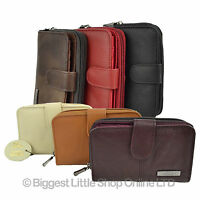 Ladies Leather- Cowhide Purse/Wallet Good Quality in 6 Colours Zip Around