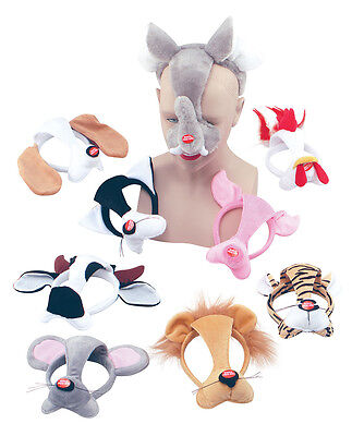 Fox Set /& Sound #Fancy Dress Accessories Adult Animal Mask With Sound