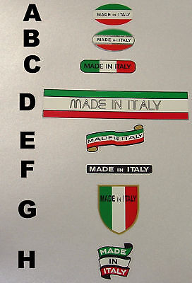 "1 Pair Made in Italy /""Campione Italiano/"" Decals sku Gran302"