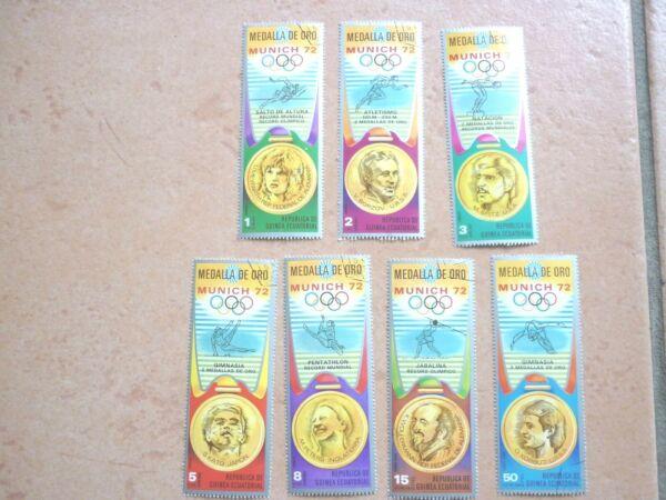 DéVoué Guinée équatoriale 21 Marques Gest. Jeux Olympiques 1972 (4 Photos)-ea 21 Marken Gest. Olympische Spiele 1972 (4 Fotos) Divers Styles