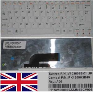 Teclado-Qwerty-UK-IBM-Lenovo-Ideapad-S10-2-PK1308H3B65-11S25008930-Blanco