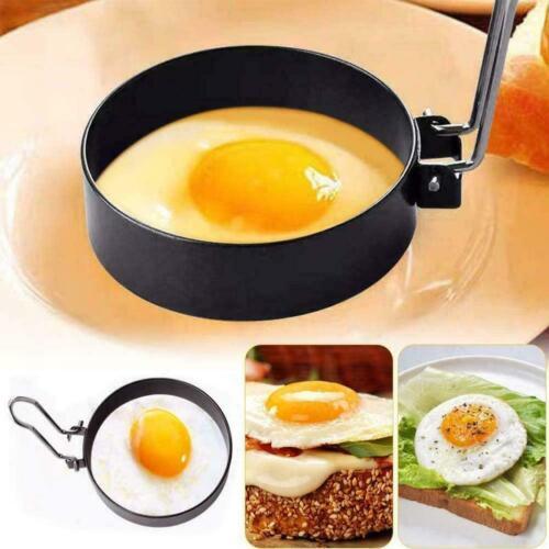 Multifunktionale Edelstahl Eierring Form Home Küche Eierringe Formen DIY F1T1