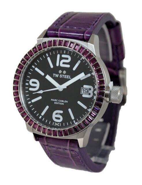 TW Steel  Ø45mm violett/silber NEU Nr.24