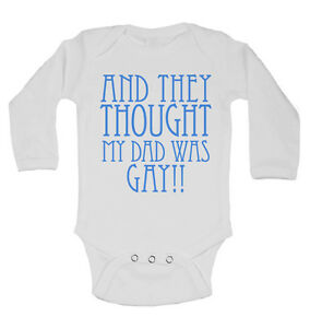 Stetig Diese Thought Mein Vater War Gay Langärmlig Baby Weste Body Unisex Weiß