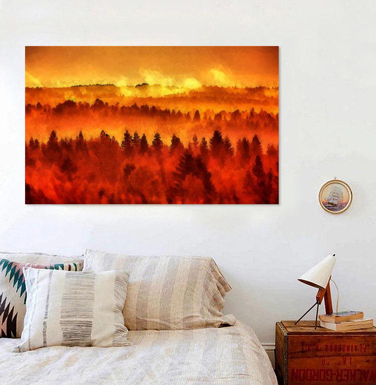 3D Waldbrand 56 Fototapeten Wandbild  BildTapete Familie AJSTORE DE