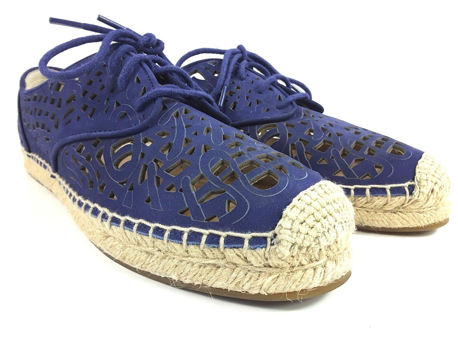 Vince Camuto Dinah Suede Lazer Cut Fashion Sneaker Espadrille Women's Sz 9 M