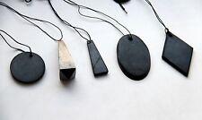 Shungite Colgante 5 piezas de piedra al por mayor Amuleto EMF protección pendant