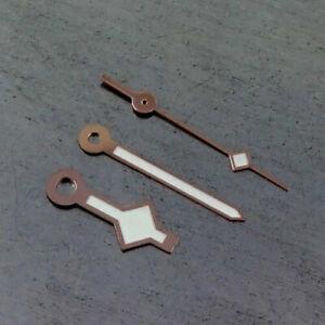 Rose-goldener-Rand-weisse-Farbe-Uhrzeiger-passt-MIYOTA-8215-Bewegung-H34