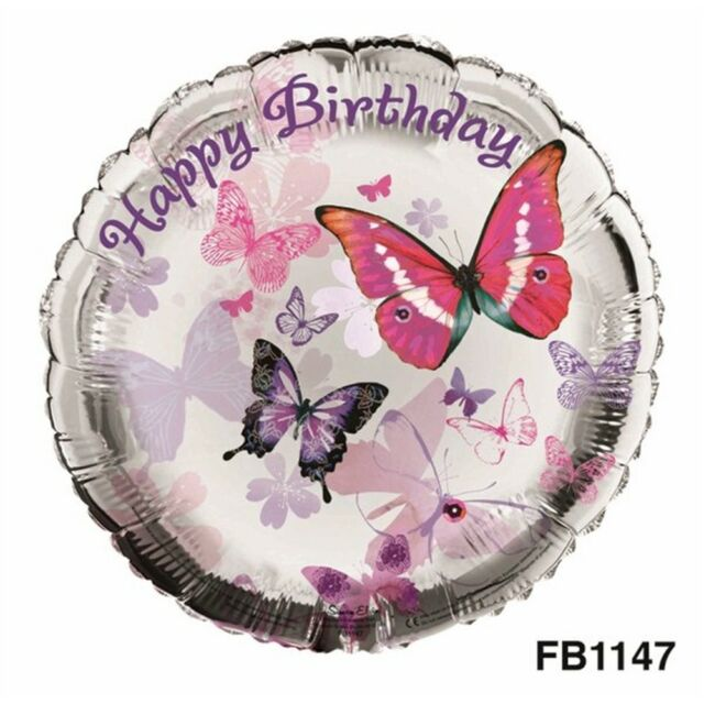 Balloon Foil - Happy Birthday - Party Decoration Megastore 247 Butterflies