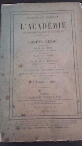 Revista Sesiones y Trabajo De L Academie Informe Julio 1913 París ABE