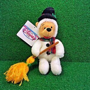 NEW-Disney-Mini-Bean-Bag-SNOWMAN-POOH-8-039-039-Plush-Toy-Winnie-The-Pooh-Bear-MWMT