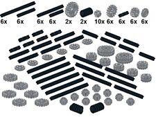 Lego - Technic - Small Parts - M25 - Zahnräder (Neues Hellgrau) & Achsen