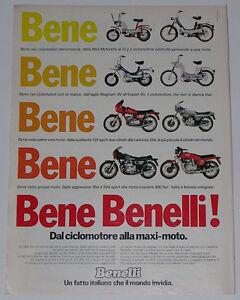 Advert-Pubblicita-1979-BENELLI-504-SPORT-900-SEI-125-SPORT-254-MAGNUM-3V-EXPORT