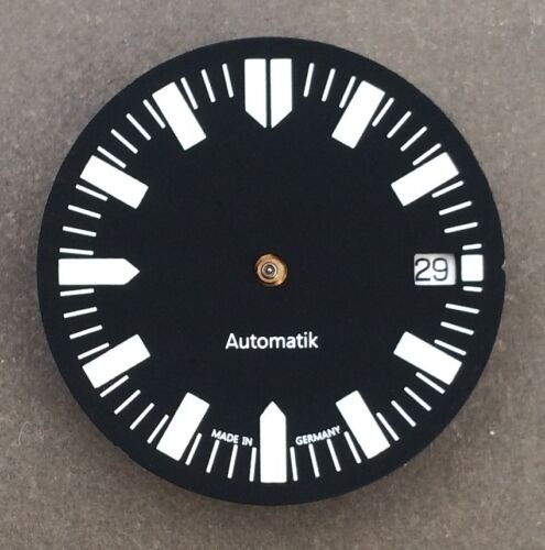 BLACK WITH BGW9 LUME GERMANY DIAL FOR ETA 2824-2 Ø 28.9mm DIVER AUTOMATIC BLUE
