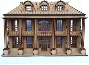 Dettagli Su Taglio Laser In Legno Mansion House 3d Kit Modello Puzzle Casa Delle Bambole Progetto Kit Fai Da Te Mostra Il Titolo Originale