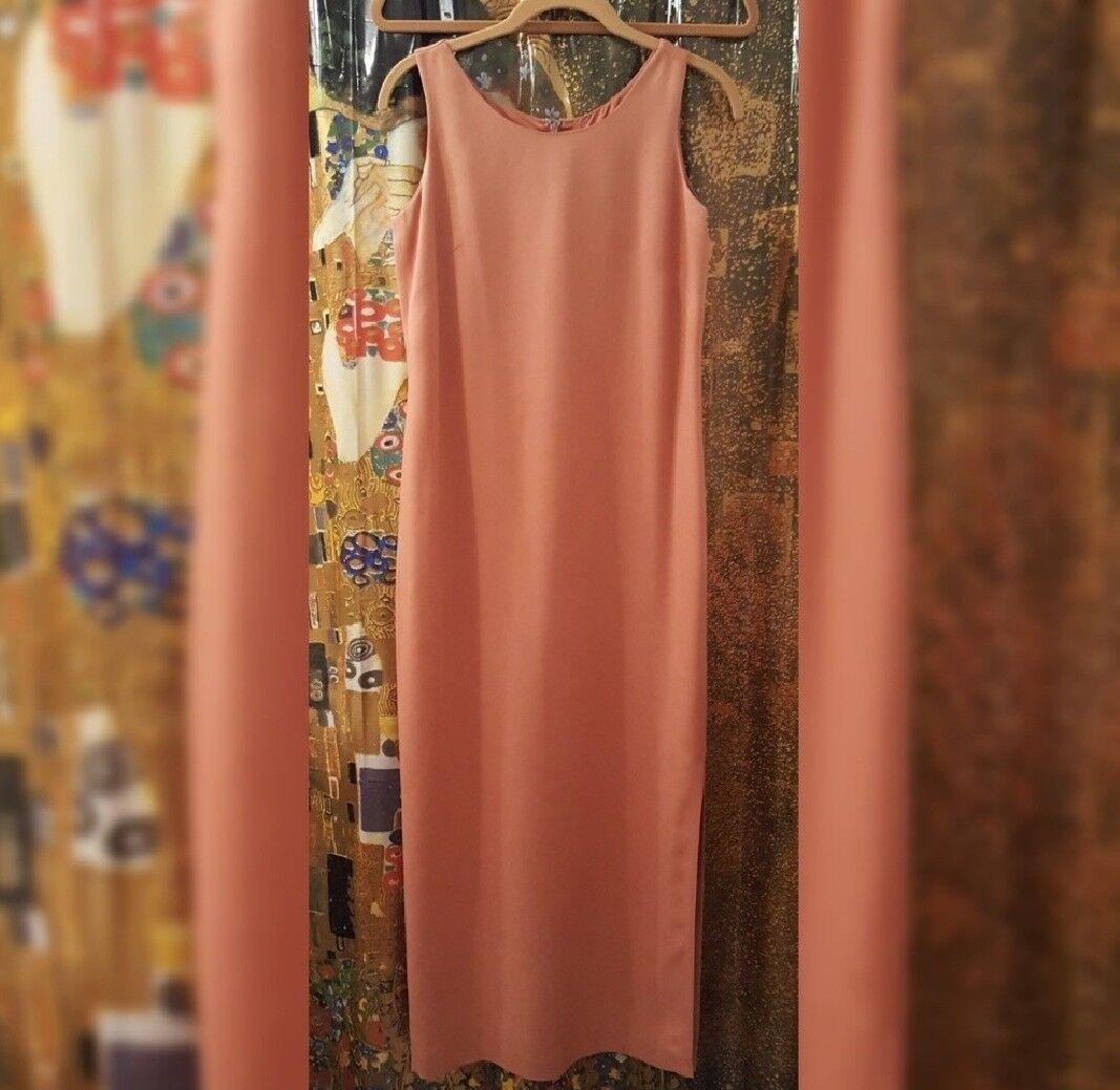 Casual Corner long maxi sleeveless dress, Größe 2