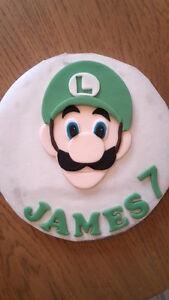 Astounding Edible Sugarpaste Super Mario Luigi Personalised Birthday Cake Funny Birthday Cards Online Unhofree Goldxyz